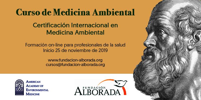 Abiertas las inscripciones a la VI Edición del Curso de Medicina Ambiental AAEM 2019-2020